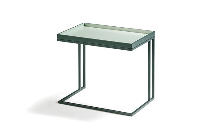 mesa auxiliar tray ciclograma blanco
